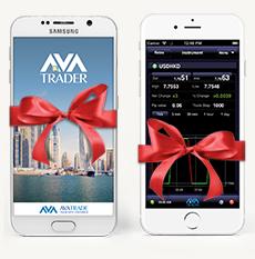 Телефон в подарок от AvaTrade