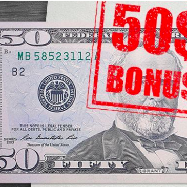 Бонус 50 долларов от FBS
