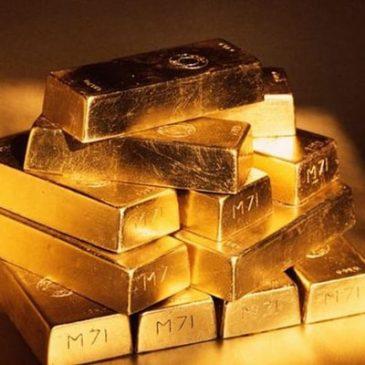 Золото падает на фоне опасений в отношении Китая и США