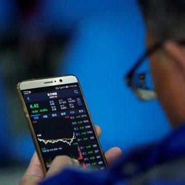Китайские акции на закрытии торгов оказались в минусе