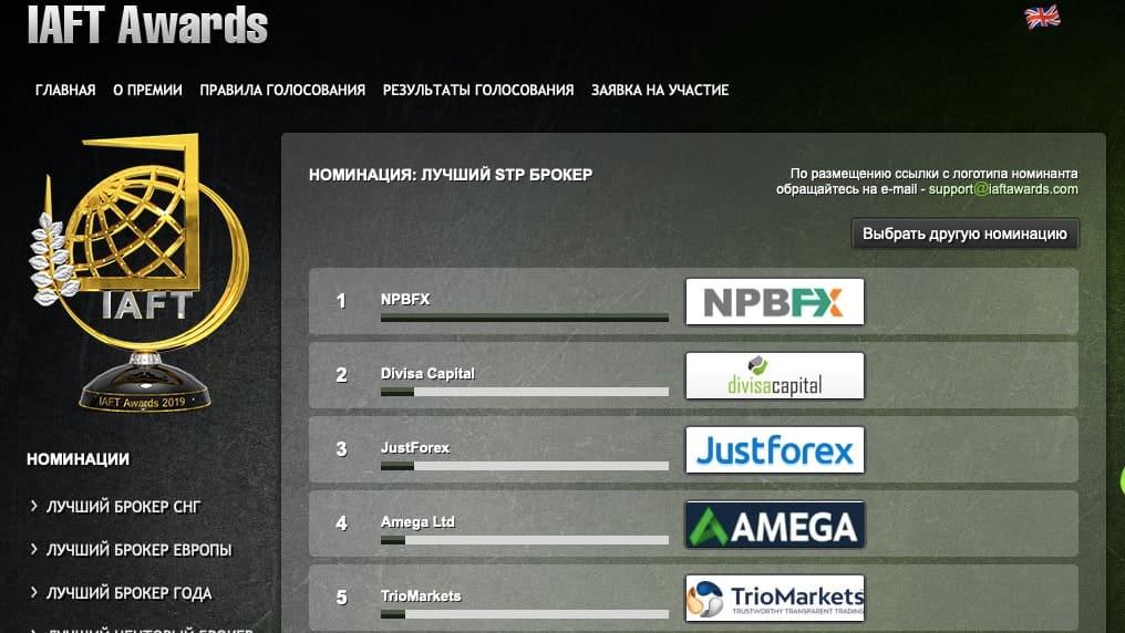 IAFT Awards и рейтинг брокер NPBFX